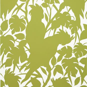 BR-69527.426 Boca Chica(Positive) On Paper Chartreuse On White by Brunschwig & Fils