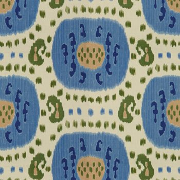 BR-71110.221 Samarkand Cotton and Linen Print Canton Blue/Green by Brunschwig & Fils