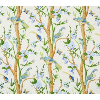 BR-71622.140 Toucans Aqua/Blue by Brunschwig & Fils