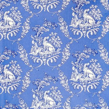 BR-79165.222 The Hunting Toile Blue by Brunschwig & Fils