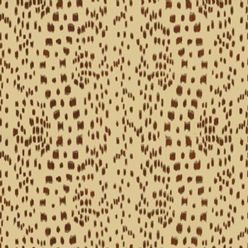 BR-79585.874 Les Touches Cotton Print Brown by Brunschwig & Fils