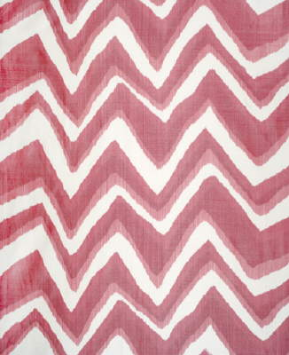 BR-79785.140 Chevron Bar Silk Warp Print Berry by Brunschwig & Fils