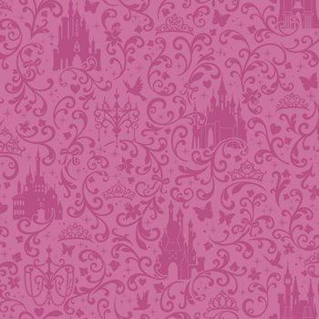 DS7612 Walt Disney Kids Ii Small Scroll W Castles Wallpaper By York