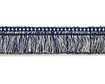FC1495-006 Shimmer Brush Fringe Indigo by Scalamandre