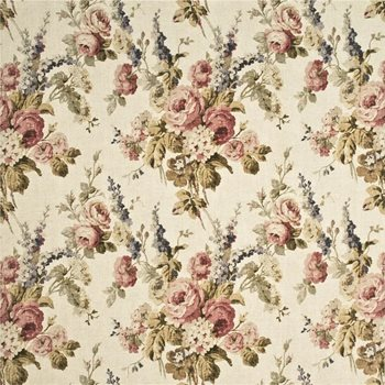 Antique/Rose Print Drapery and Upholstery Fabric