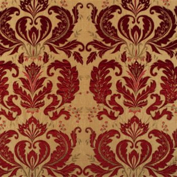 Fd645 V146 Opera Damask Silk Ruby Gold By Mulberry