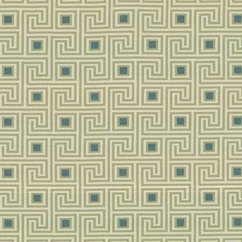 Greek Key Teal by Kasmir