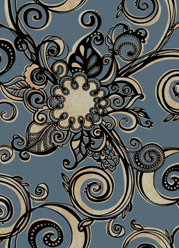 GS4713 Stacy Garcia II Velvet and Metallic Paisley Floral with Scrolls Wallpaper by York