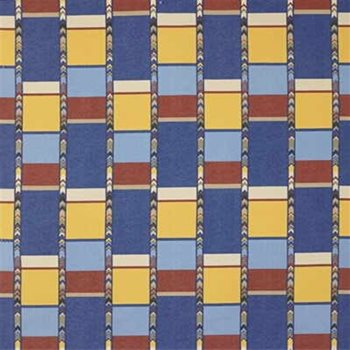 GWF-2700.519 Tribal Squares Blue by Groundworks