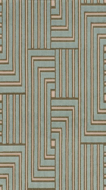 GWF-3041.13 Louvered Maze Aqua by Groundworks