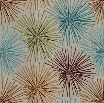 GWF-3053.324 Sparklers Linen Russet/Teal by Groundworks