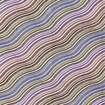 GWF-3100.909 Water Stripe Emb Plum by Groundworks