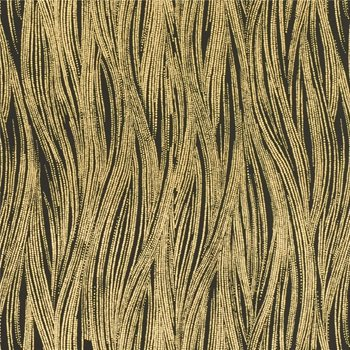 GWP-3305.48 Currents Paper Ebony/Gold by Groundworks