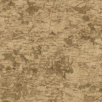 GX8173 Passport Vintage Map Wallpaper by York