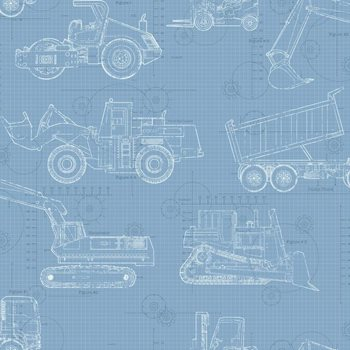Ks2352 cool kids construction blueprint wallpaper by york malvernweather Image collections