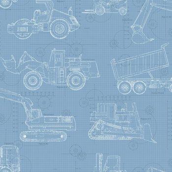 Ks2352 cool kids construction blueprint wallpaper by york malvernweather Choice Image