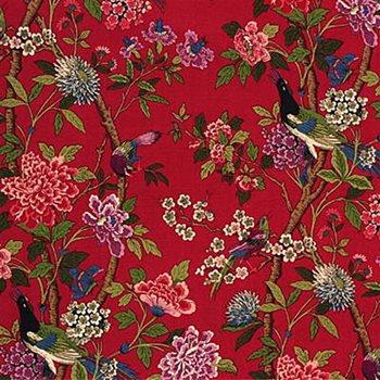 R1355 2 Hydrangea Bird Red Mauve By G P J Baker