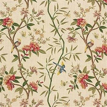 R1368 2 Peony Blossom Sage Beige By G P J Baker