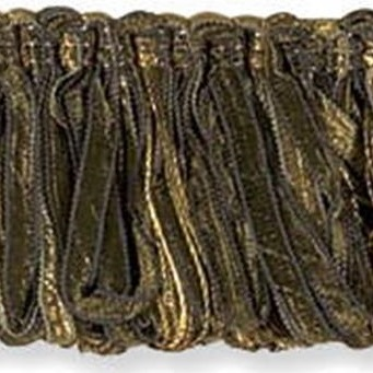 T30214.30 Ribbon Loop Fringe Olive by Kravet Couture
