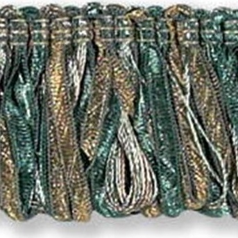 T30214.35 Ribbon Loop Fringe Lagoon by Kravet Couture