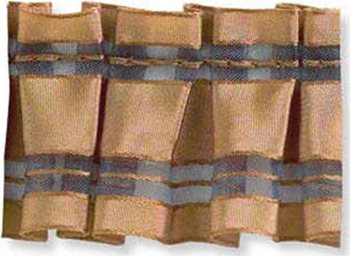 T30263.24 Sheer Pleat Ribbon Terracotta by Kravet Couture